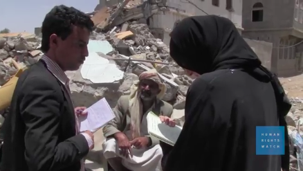 Human Rights Watch investigation of coalition airstrikes in Saada © Human Rights Watch