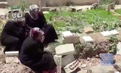 Still from a video produced by Human Rights Watch on the aftermath of a barrel bomb attack © Human Rights Watch