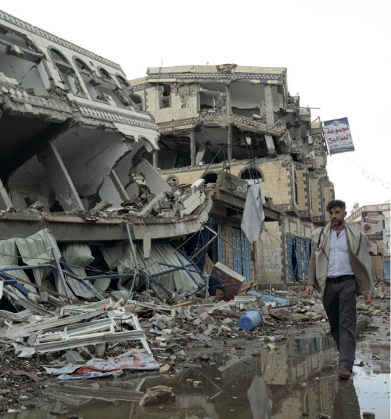 The city of Sa'ada has been heavily hit by airstrikes during the conflict in Yemen in 2015 (Philippe Krops/OCHA)