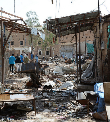 The city of Saada in Yemen, which has been hit heavily by airstrikes (© UNOCHA/Phillipe Kropf https://flic.kr/p/BwWvF7)